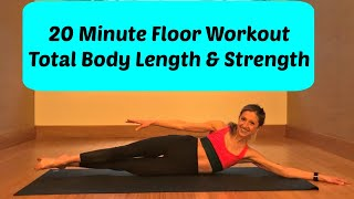 20 Minute Floor Barre Workout for a Longer and Stronger Body.