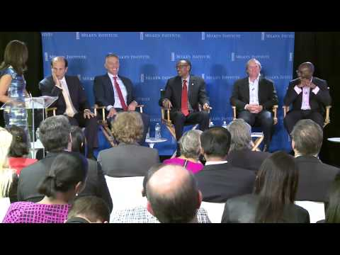 President Kagame at Milken Institute Roundtable Discussion- New York, 26 September 2013