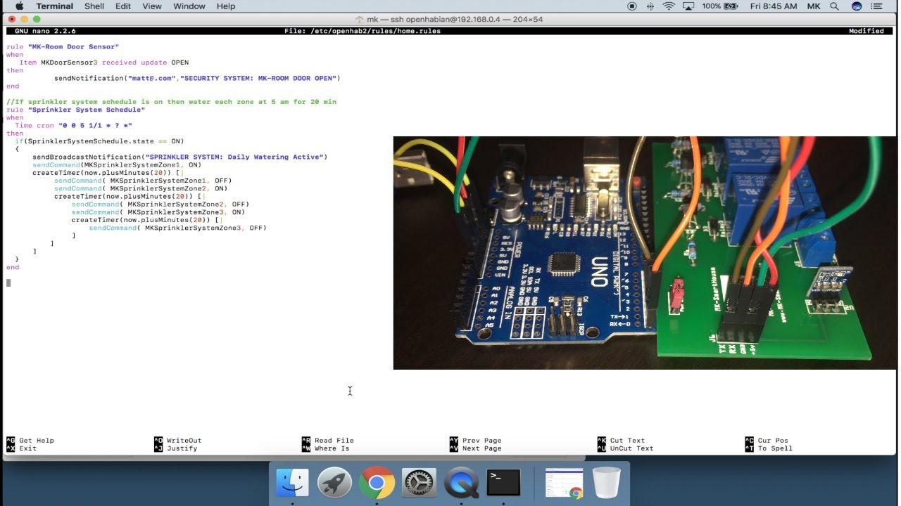 Complete Guide Sprinkler System MQTT OpenHAB ESP8266 : Software (Using MAC)
