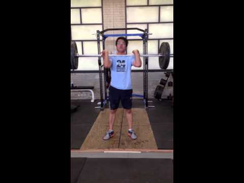 Olympic Weightlifting - Clean practice - August 3, 2013