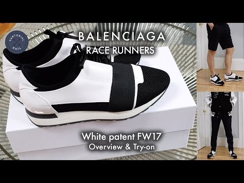 Balenciaga Men's Race Runner Sneakers Spring 2017 Try On