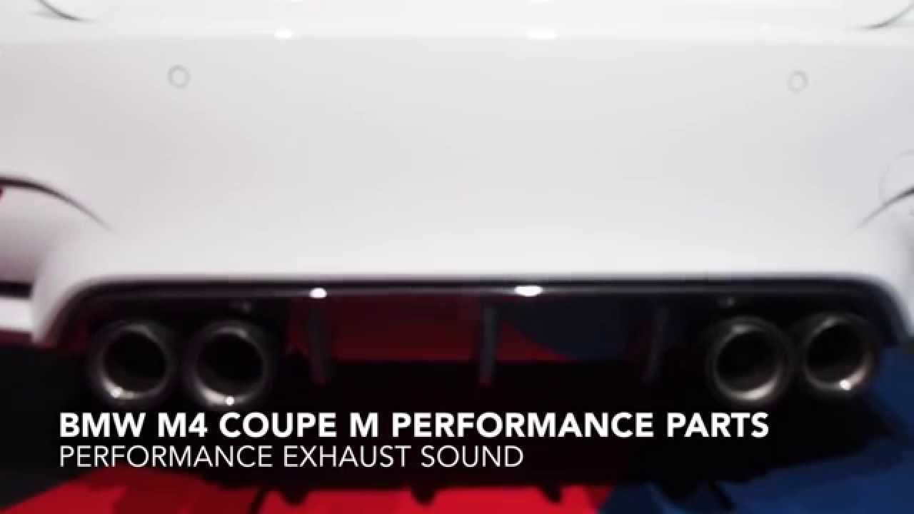 bmw m4 m performance parts exhaust sound youtube. Black Bedroom Furniture Sets. Home Design Ideas