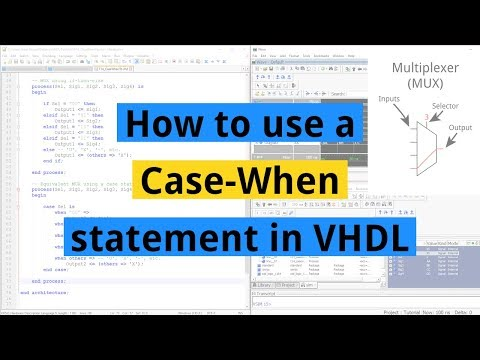 How To Use A Case-When Statement In VHDL