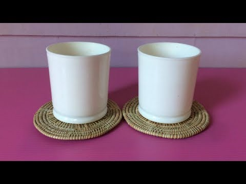 How to Make Rattan Coaster | Making Wicker Coasters Step by Step | DIY-Paper Crafts