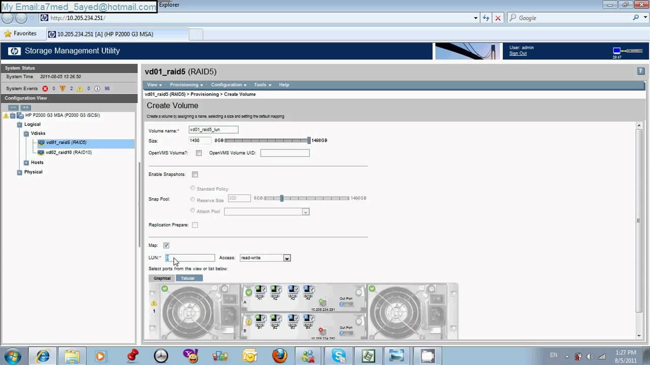 Hp P2000 Msa With Vsphere 4 1 Part4 Youtube
