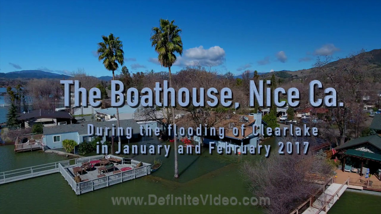 Boathouse In Nice Ca After The Flooding Of Clearlake In