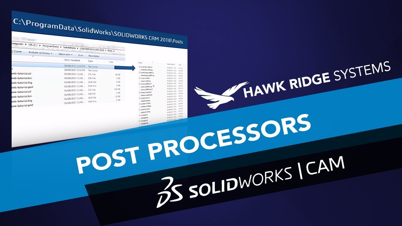 What's New SOLIDWORKS 2018: SOLIDWORKS CAM Post Processors