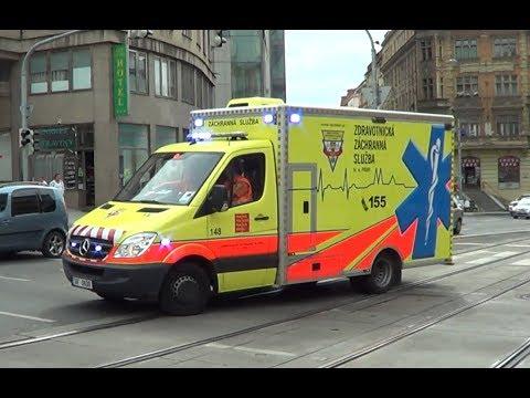 *PA 300 siren* Czech ambulance responding in Prague ...
