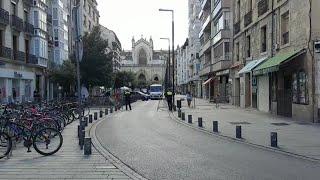 El centro de Vitoria vacío en el inicio de sus 'no fiestas'