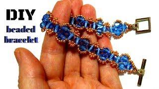 Let's follow this tutorial to make this beaded bracelet together. Elegant bracelet