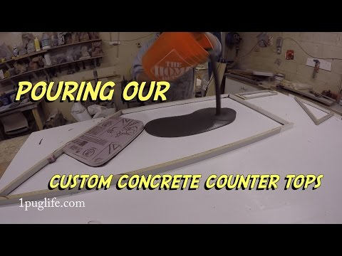 how to pour concrete counter tops like a pro