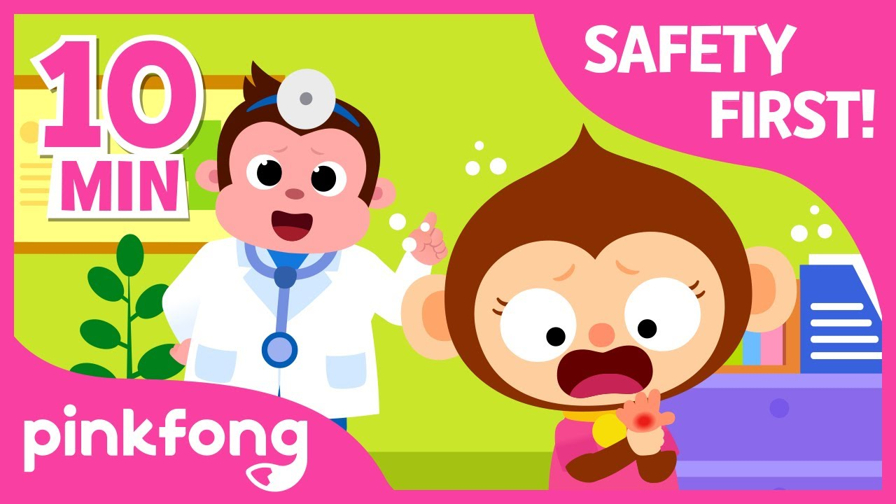 First Aid Song-I got a boo boo and more | +Compilation | Safety Songs | Pinkfong Safety Rangers
