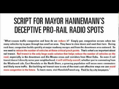 2008 Pro-Rail Radio Commercial Funded by Honolulu Taxpayers