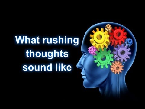 What Racing thoughts in anxiety are like