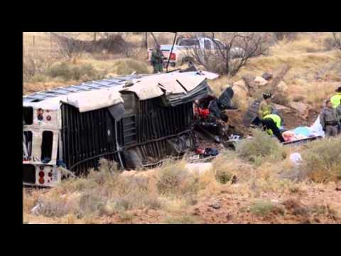 Texas Prison Bus crash 10 dead after bus collides with train in Penwell West Texas
