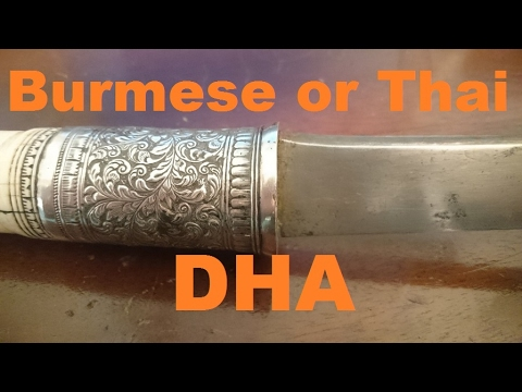 The Burmese dha sword (or Thai krabi / daab)