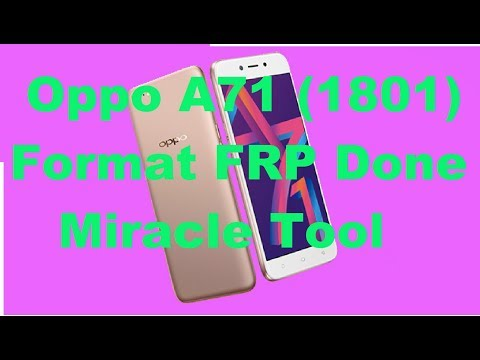 oppo a71 cph 1801 pattern Lock reset by miracle box thunder