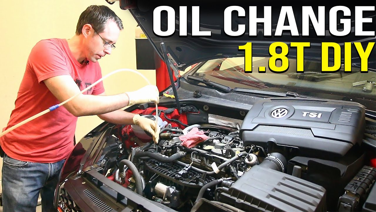 1 8t Oil Change Diy Extractor Vs Drain Method Youtube