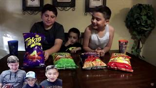 REACTING to our HOT CHIPS CHALLENGE and Other old Videos