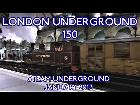 Steam London Underground 150 Years 13th January 2013 Met 1 Coach 353 Bluebell Notting Hill Gate