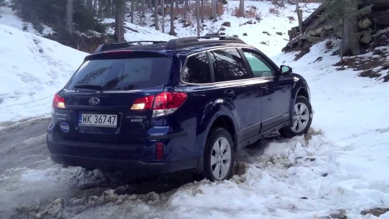 Subaru Outback 2 5i Cvt 2010 In Snow All Season Tyres