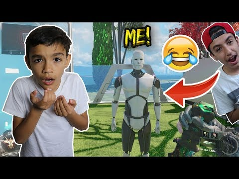 Black Ops 3 Hilarious Prop Hunt With Little Brother! (HE DIDN'T SEE ME)