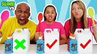 SLIME CHALLENGE!! Who's The Best You Decide? Parents Edition
