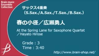 【サクソフォーン4重奏】春の小径/At the Spring Lane for Saxophone Quartet/広瀬勇人/Hayato Hirose