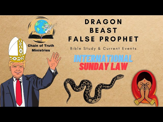 INTERNATIONAL SUNDAY LAW: USA & INDIA. THREEFOLD UNION: THE DRAGON, BEAST & FALSE PROPHET