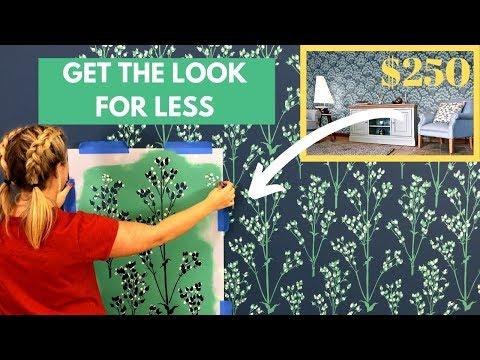 $250 Designer Wallpaper Hack with A $39 Wall Stencil
