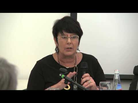 Rosa Pavanelli at the ICRICT panel in Trento, Italy