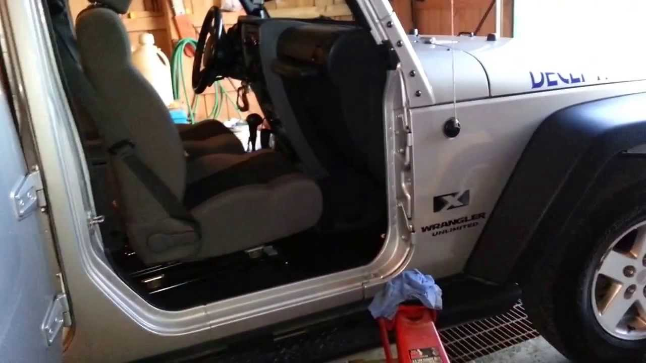 Jeep Wrangler doors seized How to free doors  remove Part 2