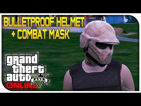 GTA 5 Online - BULLETPROOF HELMET + COMBAT MASK GLITCH! (Wear Both At Same Time) [GTA V]