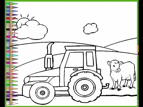 Farming Coloring Pages for Kids - Farming Coloring Pages - YouTube