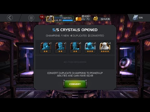 4 Star Crystal Opening and Rank Up! Marvel Contest of Champions