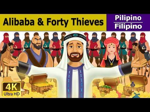 Si Alibaba at ang Apatnapung Bandido - mga kwentong pambata tagalog - 4K UHD - Filipino Fairy Tales