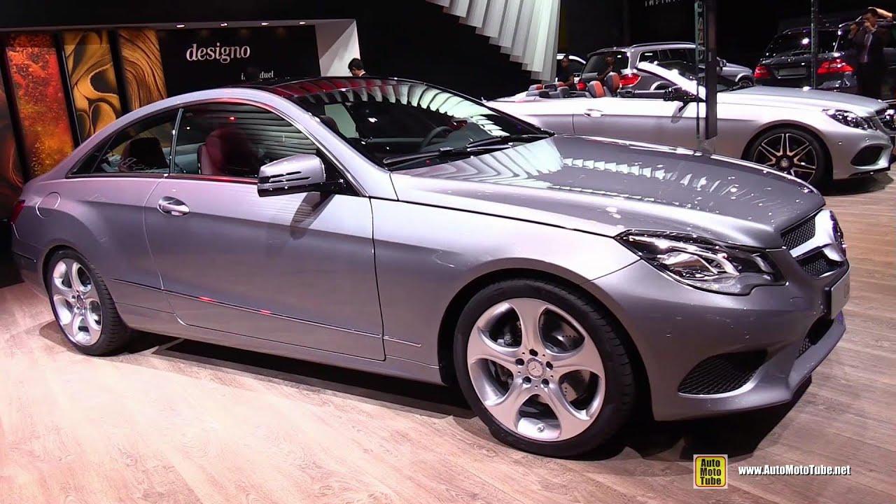 2015 mercedes benz e class coupe e220 blutec exterior interior walkaround 2014 paris auto show