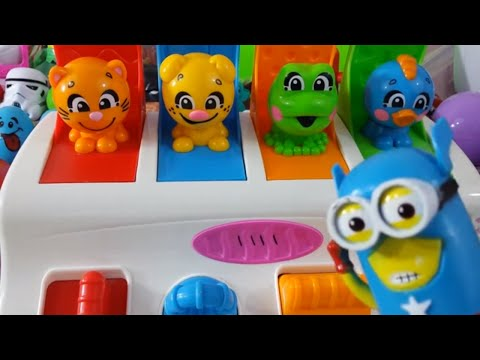 Kids Video Compilation 20 MINUTES Toy Surprise Eggs Learning numbers and colors