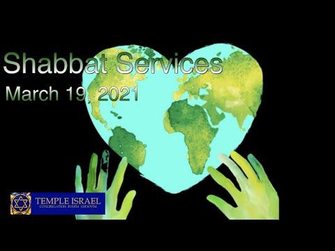 Shabbat Services  March 19, 2021