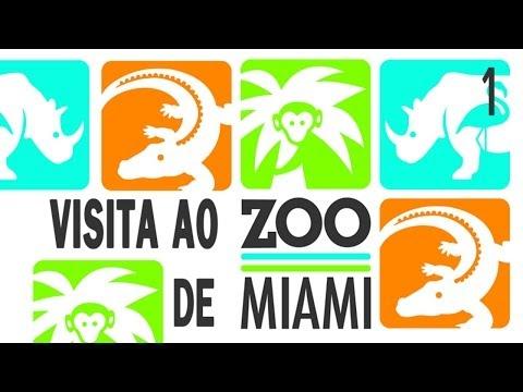 Visita ao Zoológico de Miami, EUA.  Parte 1