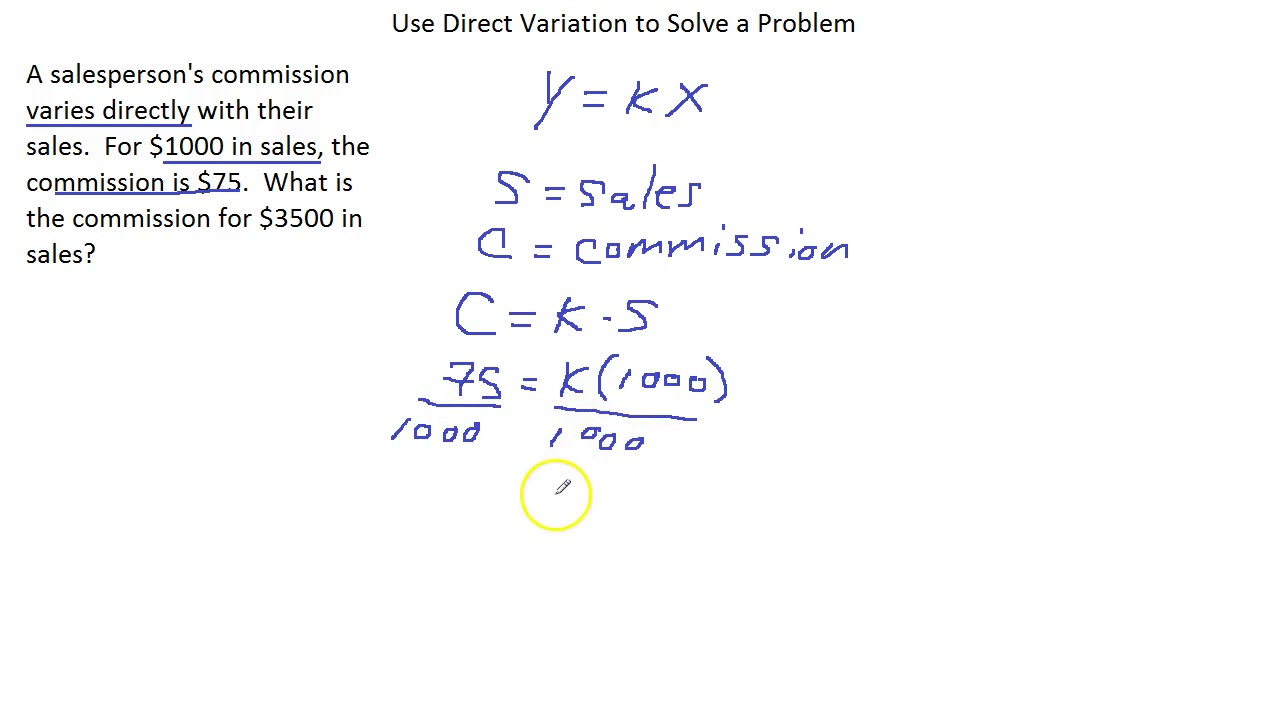 worksheet Direct Variation Word Problems Worksheet use direct variation to solve a problem youtube problem