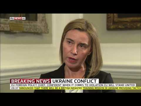 Sky News Talks To EU Foreign Policy Chief Federica Mogherini About Ukraine Crisis