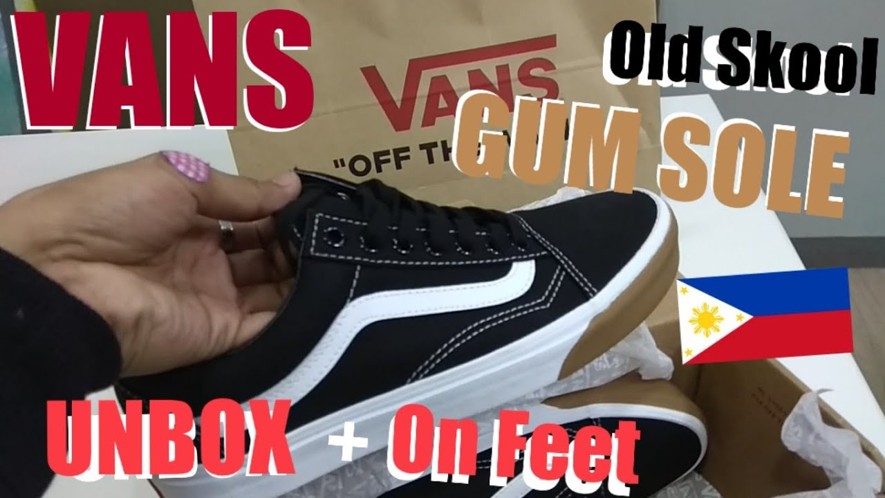 90953b72606ea0 VANS Old Skool Gum Bumper (Black) Unbox + On feet (Philippines ...