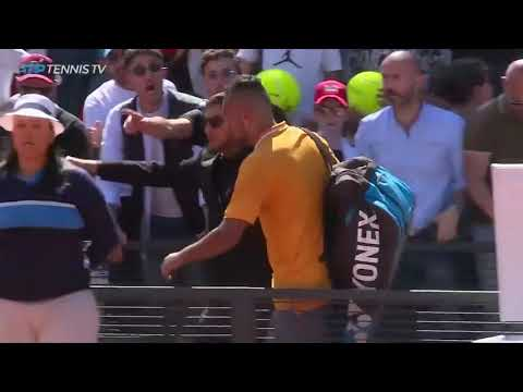 Kyrgios gets a game penalty and then walks off court, handing Casper Ruud
