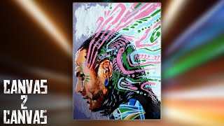 Jeff Hardy's creativity spills onto the canvas - WWE Canvas 2 Canvas