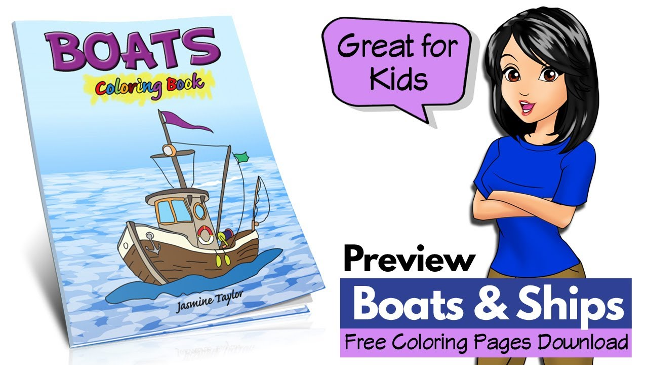 Fishing Boat coloring page | Free Printable Coloring Pages | 720x1280