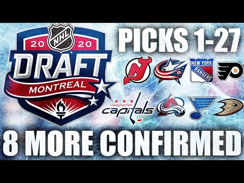 8 MORE PICKS At 2020 NHL Entry Draft CONFIRMED (Picks 1-27 Now Locked In: NHL News & Rumours Today)