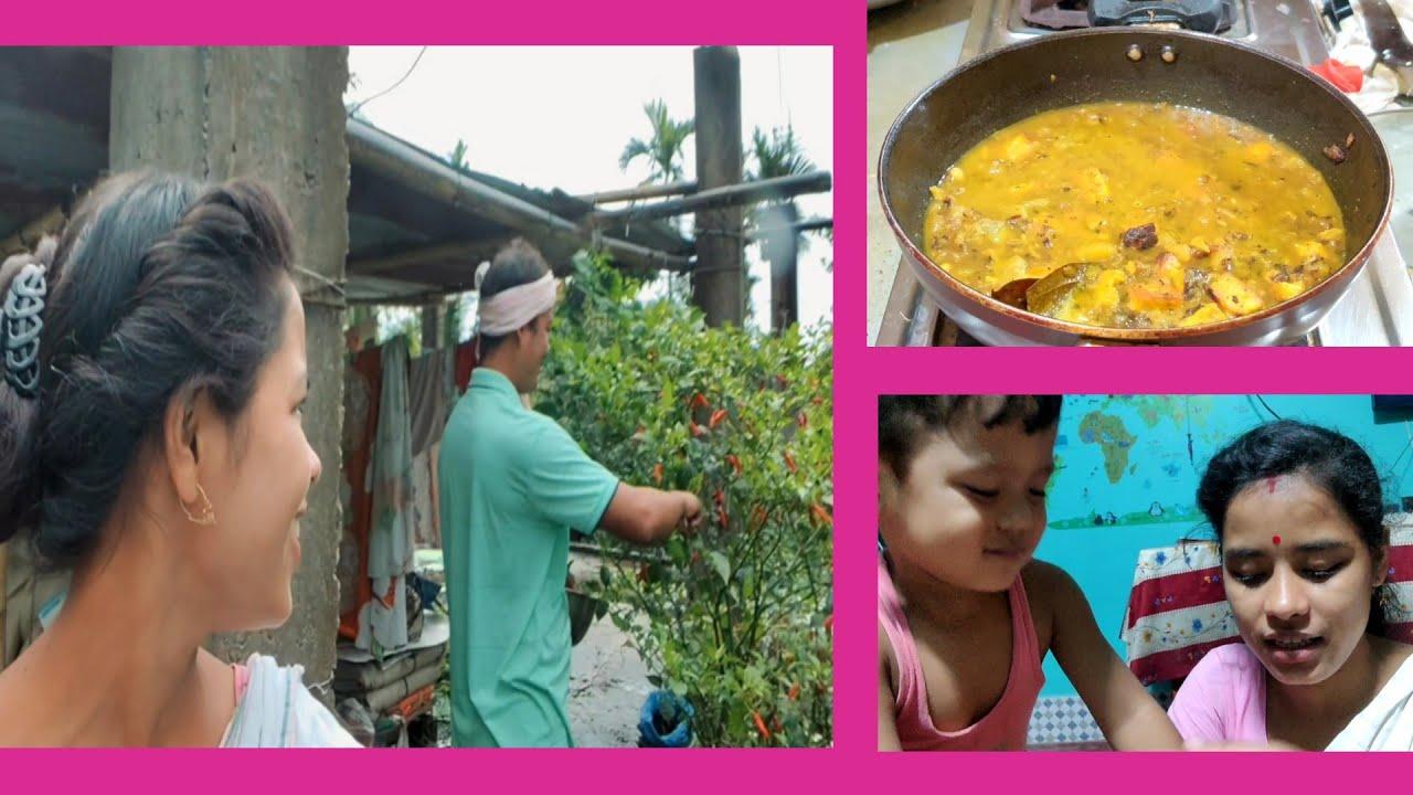 আলু পনীৰ টেষ্টি গ্ৰেভি / alo paneer recipe / জলকীয়া বেপাৰী 😂 / assamese vlog