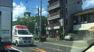 緊急走行する救急車【鹿児島市内】