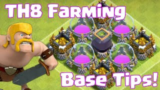 Clash Of Clans Townhall 8 Farming Base Defense Tips And Tricks | TH8 Farming Base Layout